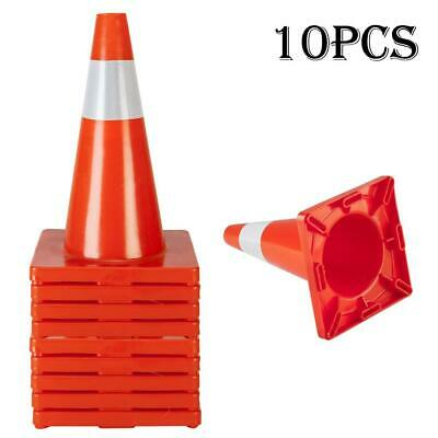 "10X Traffic Cones 18"" Orange Fluorescent Reflective Road Safety Parking US PC"