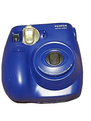 Fujifilm Instax Mini 7S Instant Camera Point and Shoot Plus 9Pack Film BLUE open