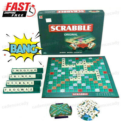 Original Scrab-b-e Board Game Family Kids & Adults Educational Toys Puzzle Games
