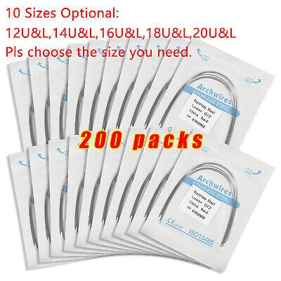 200 Packs Dental Orthodontic Stainless Steel Round Arch Wires Ovoid Form