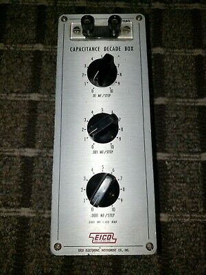 Eico 1180 Capacitance Decade Box - Works