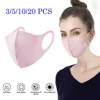 3/5/10 Pack Breathable Anti Haze PM 2.5 Face Mouth Mask Respirator