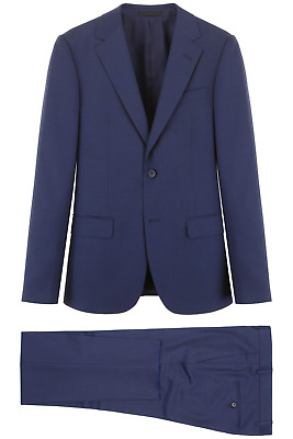 NEW Z zegna two-piece tailoring suit 522771 281CG9 Blu Navy Unito AUTHENTIC NWT
