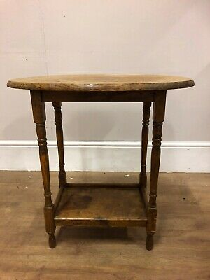 Vintage Oak 2 Tier Plant / Lamp Table Shabby Chic Project