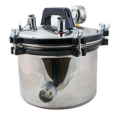 8LSteam Sterilizer Pot Dental Autoclave Stainless Steel Self Inflating Type Seal