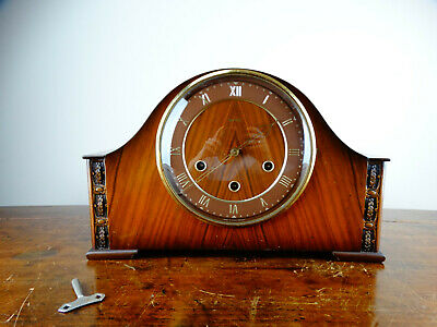 Smiths Westminster Chiming Mantel Clock 8 Day Movement Antique Vintage 1950s