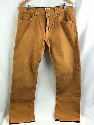 J Crew Corduroy Pants Mens 35 x 32 Brown Straight Fit 100% Cotton Brand New