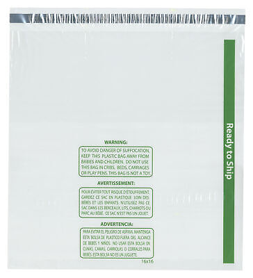 """Plymor Ready to Ship 1.5 Mil Wicketed Plastic Bags, 16"""" x 16"""" (Pack of 125)"""