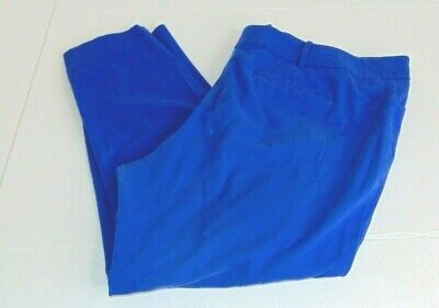 Mossimo Stretch Extensible Women's Size 24W Blue Flat Front Chino Pants