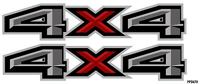 """4X4 American Flag DECALS Truck Bed Graphic Stickers Vinyl Set of 2 Mk196NO4BX 8/"""""""