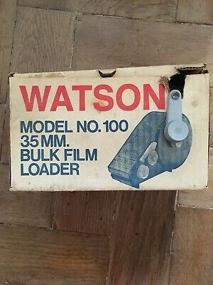 Vintage Watson Model No.100 35mm Bulk film Loader boxed