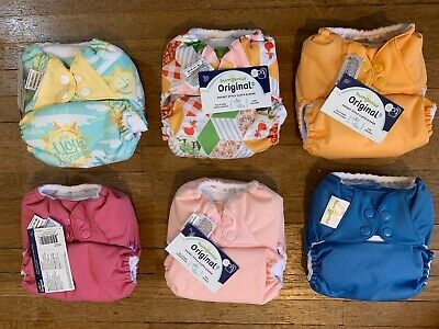NEW BumGenius Original 4.0 and 5.0 Pocket Snap Cloth Diapers: Lot of 6