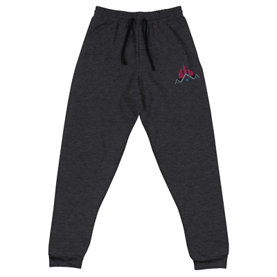 Real Estate Apparel Women Dark Grey With Pink Sweatpants, Joggers