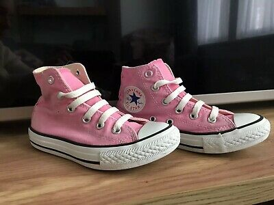 Girls Converse Pink All Star Trainers Size 11.5