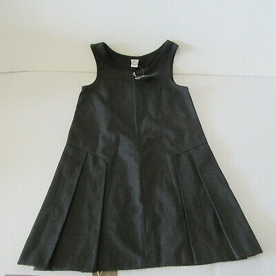Tu  Grey  School  Pinafore  Dress   Age 5 Years     School Uniform