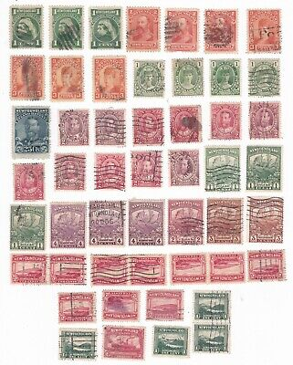 NEWFOUNDLAND - Large Lot of QV, KEVII, KGV, Q.MARY + Other Used Stamps c1898-30s