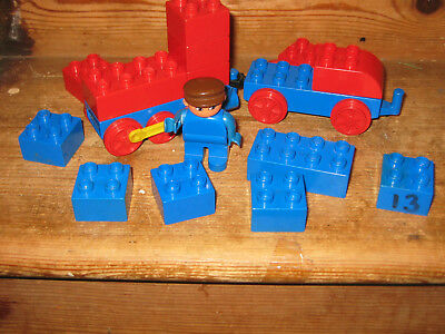 Duplo Lego Train Carriage Driver Man Playfigure Assorted Construction Brick Tow