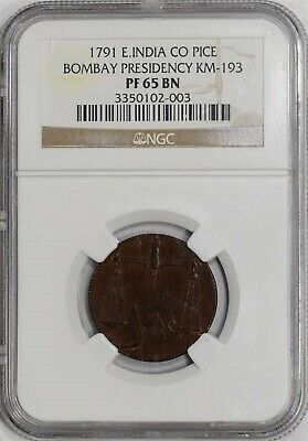 1791 E. India Co Pice Bombay Presidency KM-193 PF65 BN NGC  934512-9