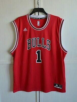 Adidas NBA Jersey Chicago Bulls Derrick Rose Red sz 2X | eBay