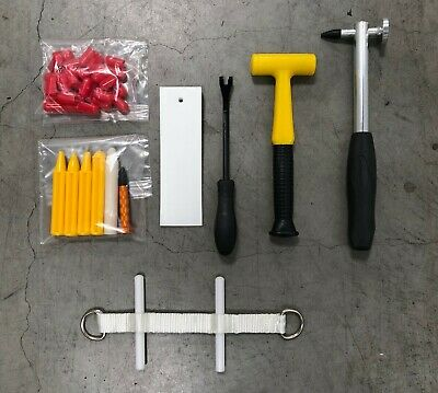 PDR Tools Accessory Package Paintless Dent Repair Hammer Tap Wedge Strap Sleeves