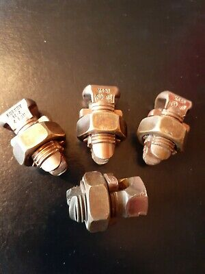 3 BURNDY KS20 and 1 BLACKBURN 3H Split-Bolt Connectors as 1 lot.