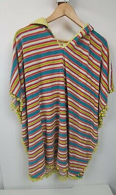 Young Hearts By Collette Dinnigan Poncho Cover Up Sz L