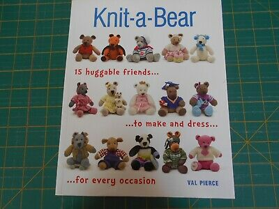 Knit-A-Bear Book By Val Pierce - (2014) - Good Condition -