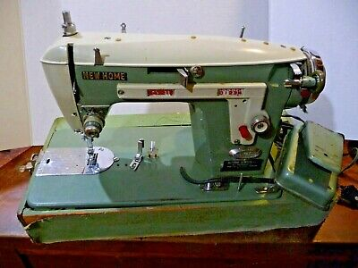 New Home Vintage Sewing Machine Model 532 J-A30 Janome Japan Green Serial #20565