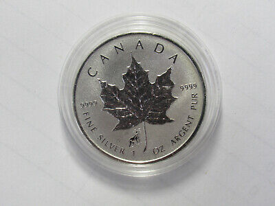 2015 CANADA 1 oz .9999 SILVER Reverse Proof $5 MAPLE LEAF with RAM PRIVY MARK