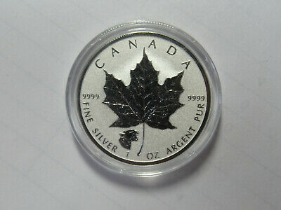 2017 CANADA 1 oz .9999 SILVER Reverse Proof $5 MAPLE LEAF with COUGAR PRIVY MARK