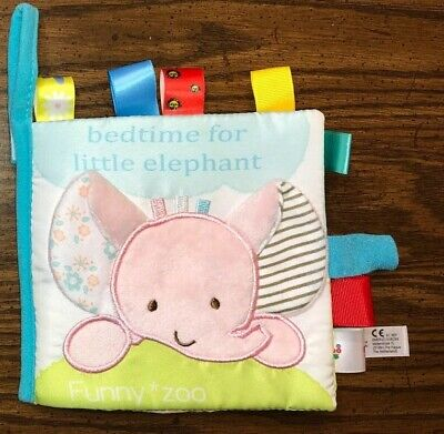 bedtime For Little Elephant Infant Educational Soft Cloth Book Textures Crinkles