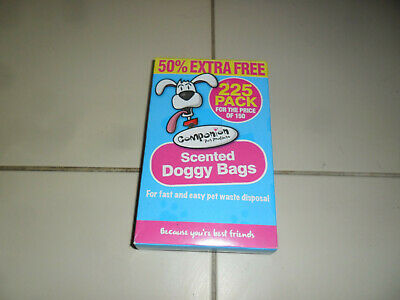 Scented Doggy Doggie Bags Dog Cat Pet Poo Poop Pooper Scooper Waste Toilet Tie