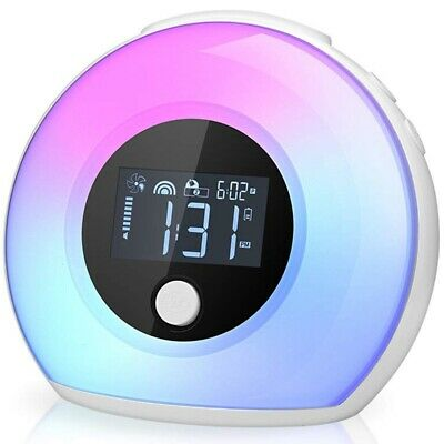 2X(Night Light Clock For Bedroom - Baby Clock With Bluetooth Speaker And Nu3O7)