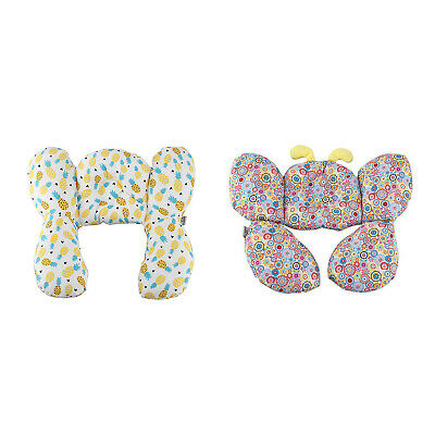 2X(Baby Head Support Pillow Stroller Neck Protection Headrest Infant Toddle2V2)