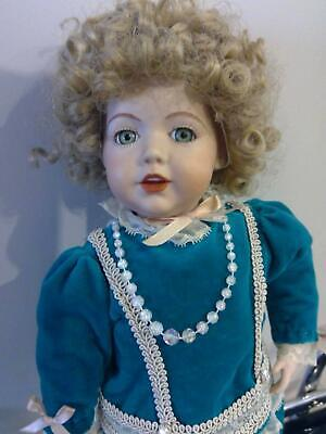 Vintage Handmade Porcelain Doll Signed By Artist -Immaculate/Perfect