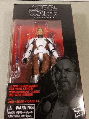 "Star Wars Black Series 6"" Clone Commander Obi-Wan Kenobi Walgreens New"