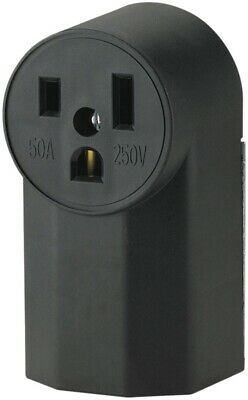 Eaton Cooper Wiring 1252 Power Receptacle 50 A Black