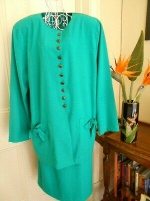 VINTAGE 1980's GREEN SKIRT SUIT BY COLIN RAYMOND