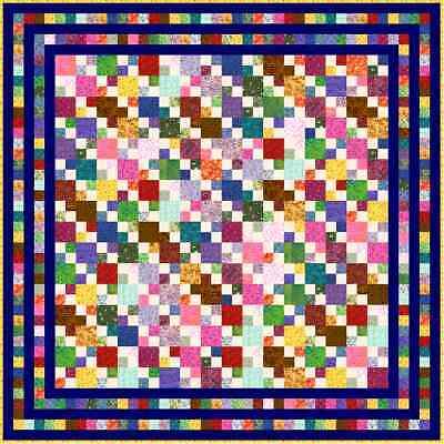 """HIGELTY PIGELTY - 85"""" x 85"""" - Quilt-Addicts Precut Quilt Queen size"""