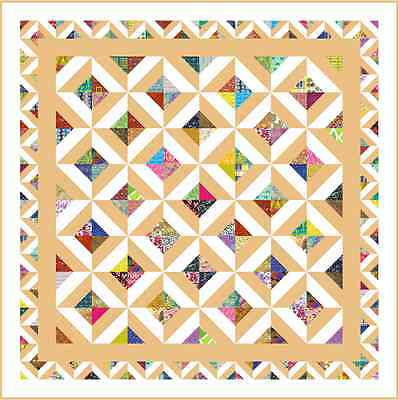 """NONSENSE - 89"""" - Pre-cut Quilt Kit by Quilt-Addicts Queen size"""