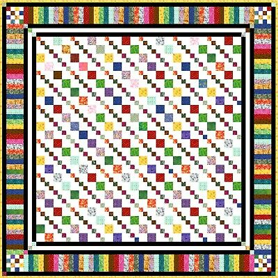 """GROOVY GRANNY - 65"""" - Quilt-Addicts Precut Quilt Kit Double size"""