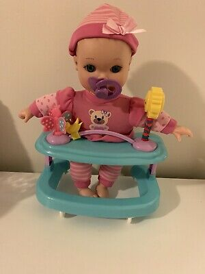 New Adventures Vinyl Baby Doll Interactive Battery Powered Doll In Walker