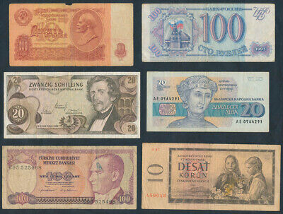 """Europe: 1960-99 """"COLLECTION OF 18 DIFFERENT NOTES"""". High Catalogue Value!"""