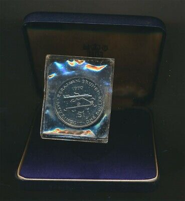 Brunei: 1970 $1 Antique Cannon Proof in Original Case, Key Date Scarce