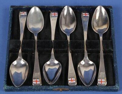 Great Britain: 1912 George V Dicken & Francis 925 Silver SGRC Spoon Set of 6