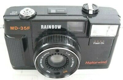 **1970`s RAINBOW MD-35F 35mm VIEWFINDER FILM CAMERA JAPANESE 38mm 1:4 LENS**