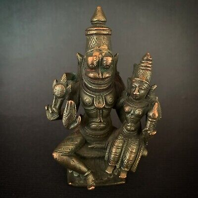 Indien Antique Indian Hindu Bronze Asia Narasimha  Ganesha 444