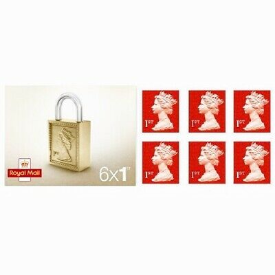 6 x 1st Class Royal Mail Postage Stamps - NEW - Free Fast Delivery - Sale!