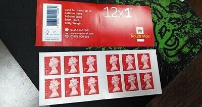 12 x 1st Class Royal Mail Postage Stamps Booklet - NEW - Happy Savings ✅