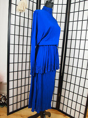 [N03] Vintage 1970-80s Absolutely Stunning DRESS Disco Sz 12 Made in England